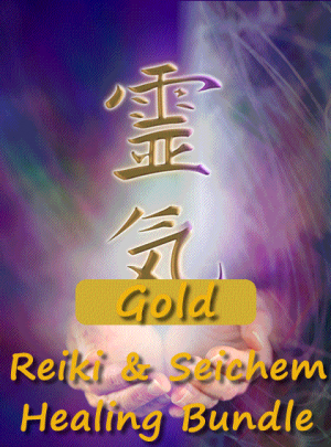 Reiki and Seichem Healing Gold Image