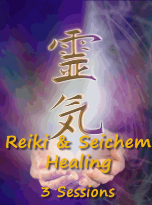 Reiki and Seichem 3 Bundle Healing Sessions